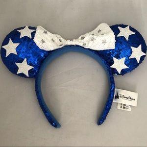 Disney park sequin mini mouse ears headband